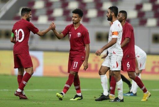 Katar besiegte Palästina in einem Freundschaftsspiel