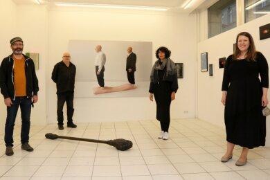 Klaus Fischer (Zweiter von links) mit Reinhard Krehl, Louise Walleneit und Judith Miriam Eschelor (von links).