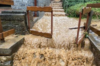 Im mittelsächischen Reinsberg wütete vergangene Woche ein Gewitter mit Hagel und Starkregen.
