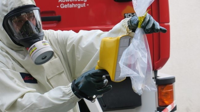 Eine radioaktiv strahlende Dose wurde am Freitag in Aue entdeckt.