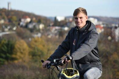 Mika Grünler musste im Herbst coronabedingt seine im Sommer begonnene Deutschlandtour mit dem Fahrrad unterbrechen und ist erst einmal wieder in seine Heimatstadt Plauen zurückgekehrt.