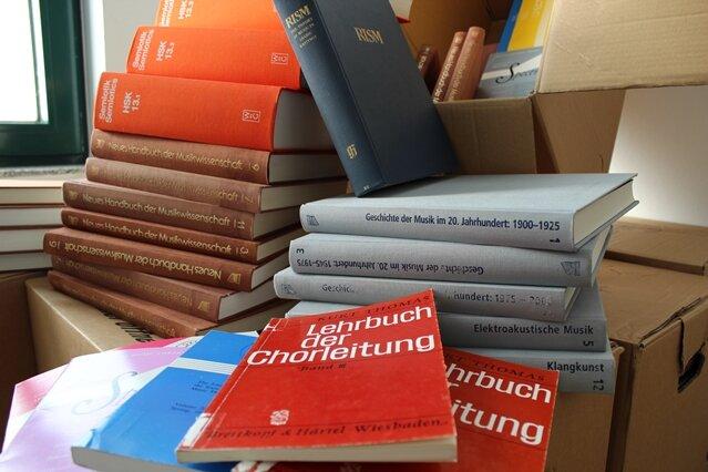 Ein geringer Teil der gestohlenen Bücher.