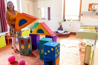 Therapeutin Angela Beyer hat in den zurückliegenden Tagen ihr neues Praxiszimmer eingerichtet - speziell für die kleinen Patienten. Am Montag will sie mit ihrem neuen Angebot starten.