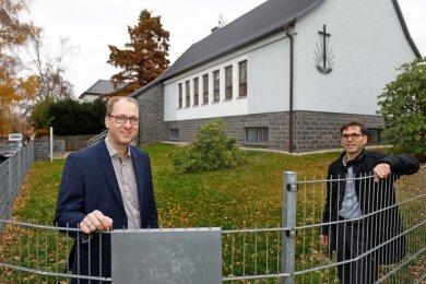 Gemeindevorsteher Frank Wienhold (links) und Andreas Ludwig engagieren sich seit vielen Jahren in der Gemeinde.
