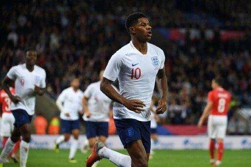 Rashford bejubelt sein Tor gegen die Schweiz