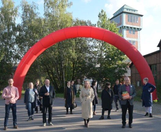 Die Künstlertour machte Halt in Oelsnitz.