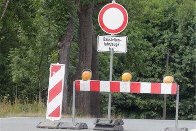 Hier geht es nicht weiter. So ist es auch auf der Ascher Straße in Bad Elster.