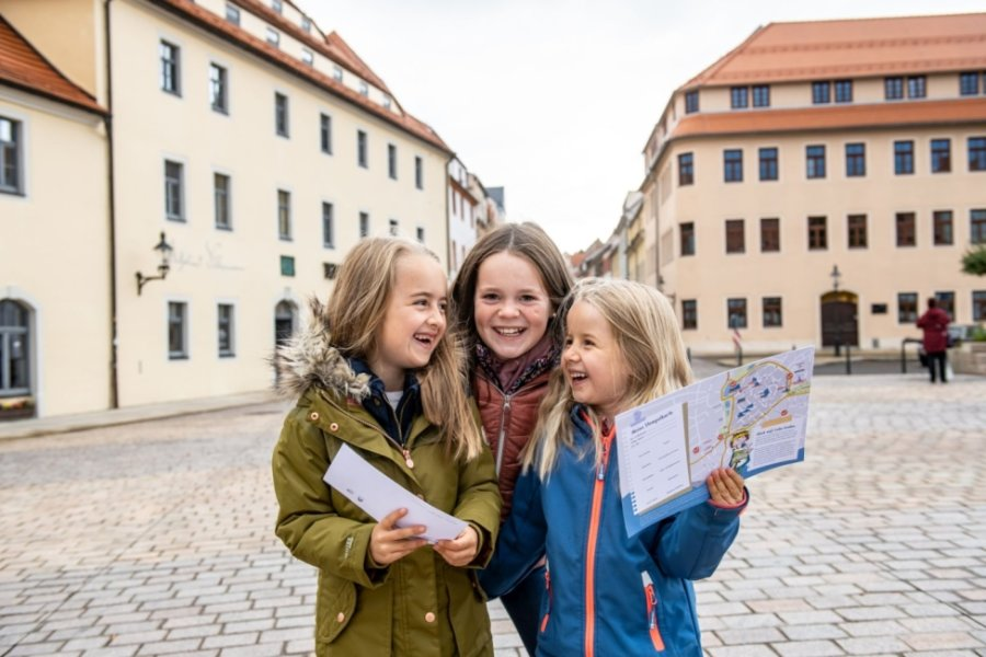 Mit dem Kinderstadtplan in Freiberg auf Entdeckertour