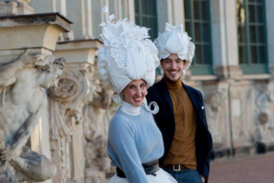 Gigantischer Bergmannsaufzug fürs Hochzeitsbild!