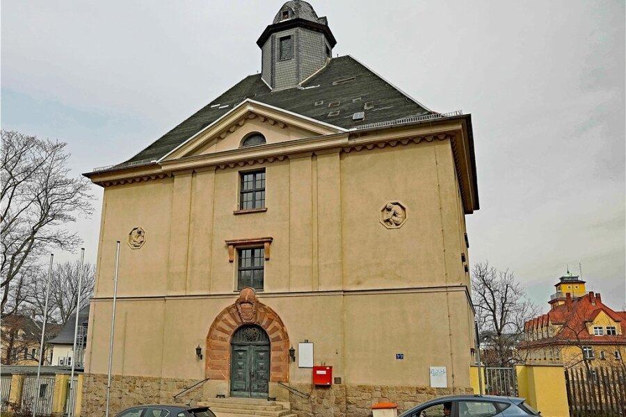 Das Grundbuchamt an der Zwickauer Straße in Werdau wird derzeit umgebaut.
