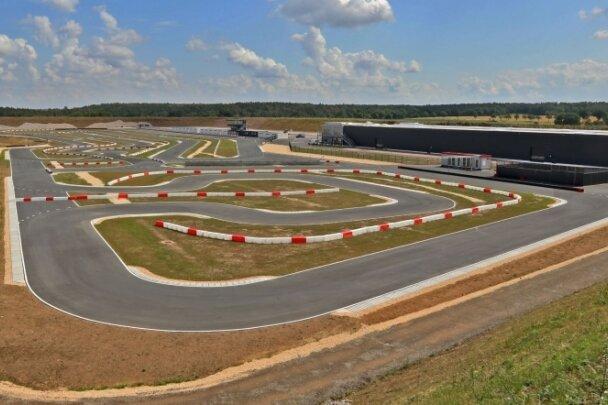 Die Motorsport-Arena in Mülsen. Glauchau hatte sich gegen den Bau der anlage ausgesprochen.