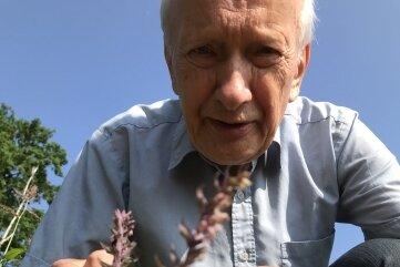Professor Dietrich Stoyan mit seiner Entdeckung.
