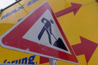 Eine neue Baustelle gibt es seit Montag in Schwarzenberg.