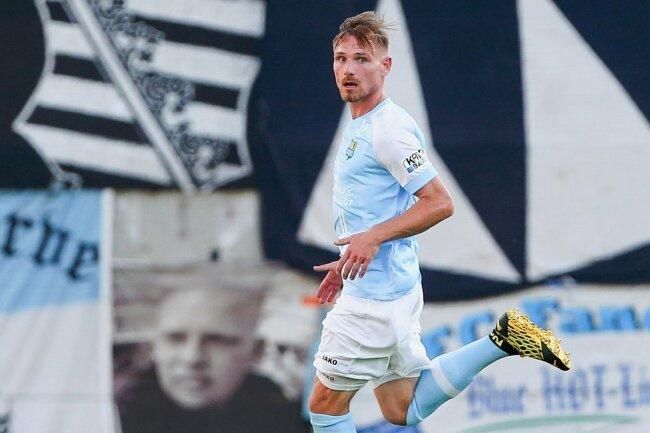 Robert Zickert erzielte in der 40. Minute seinen ersten Pflichtspieltreffer für den CFC.