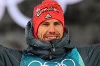Strahlende Olympia-Sieger aus Deutschland: Skispringer Andreas Wellinger, Biathletin Laura Dahlmeier und Biathlet Arnd Pfeiffer