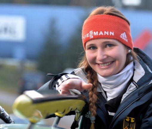 Julia Taubitz vom WSC Erzgebirge Oberwiesenthal steht auf dem Sprung in die deutsche Weltcupmannschaft der Rennrodler.