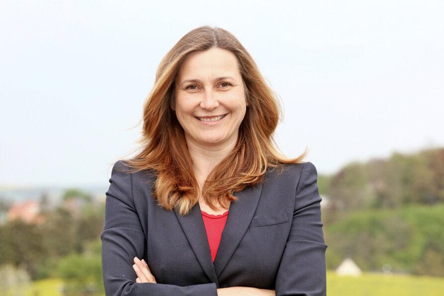 Die neue Oberbürgermeisterin von Zwickau, Constance Arndt, 43 Jahre, verheiratet, tritt am 1. November ihr Amt an.