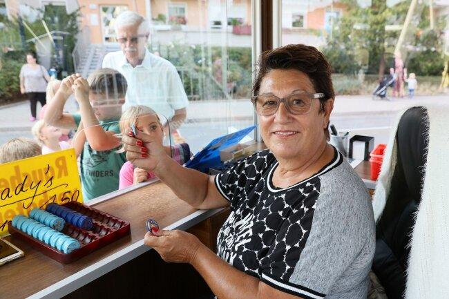 Riesenrad-Chefin Andrea Schubert kommt seit vielen Jahren zum Zwickauer Stadtfest.