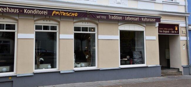 Die Konditorei Fritzsche am Markt in Crimmitschau, einer der ältesten Kaffeehäuser in der Region, hat geschlossen.