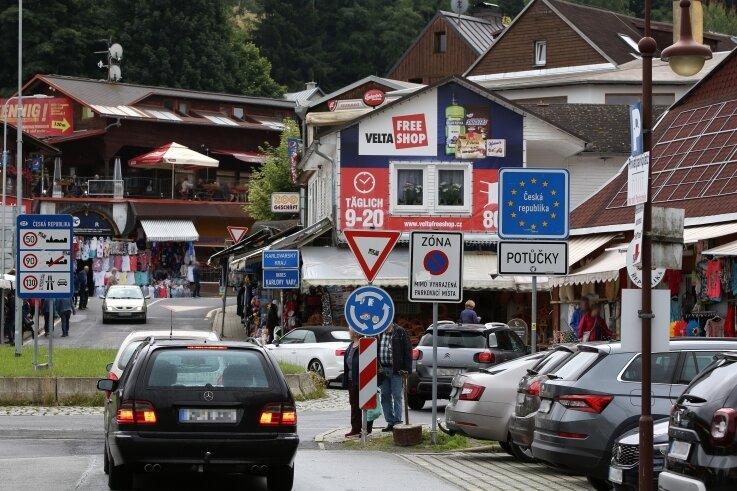 Der Grenzübergang in Johanngeorgenstadt nach Potucky wird von vielen Tagesbesuchern genutzt.