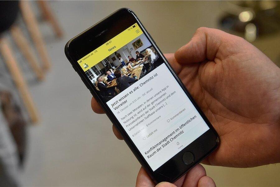 Als erste deutsche Großstadt hat die Chemnitzer Stadtverwaltung die Mitarbeiter-App des Start-ups Staffbase eingeführt.