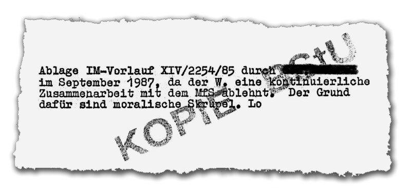 """<p class=""""artikelinhalt"""">Dieses Blatt aus der Akte von Hans-Joachim Wunderlich fehlt bei dem Material, das den Medien anonym zugespielt wurde.</p>"""