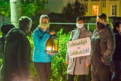 In Thalheim versammelten sich etwa 60 Personen.