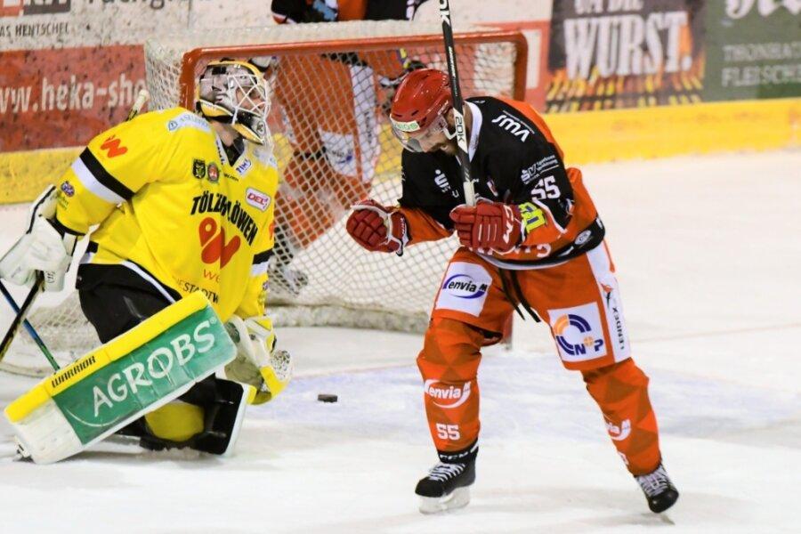 Stürmer Petr Pohl (rechts) war am Freitagabend im Heimspiel gegen Bad Tölz zweimal erfolgreich.