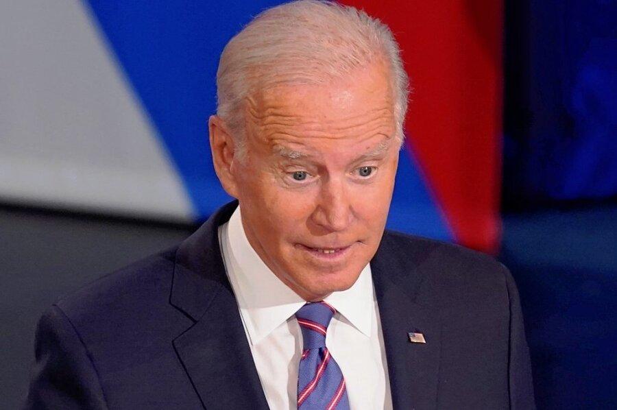 Beistandsversicherung vor laufender Kamera: US-Präsident Joe Biden bei CNN.