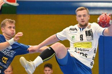 Linkshänder Aki Egilsnes von den Färöern ist Aues einziger Neuzugang für kommende Saison. Der 25-Jährige soll den Rückraum des EHV verstärken. Im Test gegen Eisenach gab er sein Debüt im Erzgebirge.