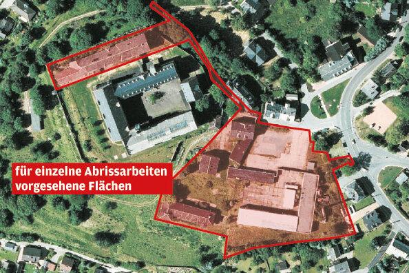 Stollberg plant Abrisse im Schlossareal