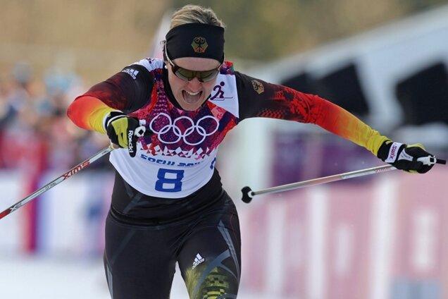 Der Ausfallschritt über die Ziellinie nutzte nichts mehr: Denise Herrmann schied im Halbfinale aus.