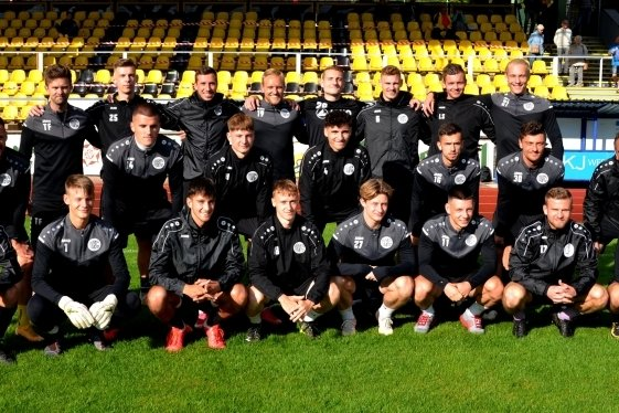 Nach der Mannschaftspräsentation am Dienstag stellte sich der VFC-Kader dem Fotografen. Auf dem Bild fehlen sechs Teammitglieder.