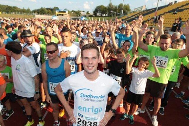 Sebastian Hendel, Läufer-Ass vom LAV Reichenbach, führte 2019 das Feld zum Firmenlauf an. Die nächste Chance dafür besteht erst 2021.
