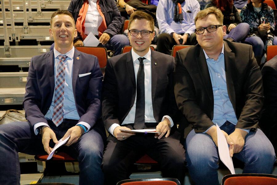 Helmut Brunhuber, Norman Löster und Thomas Uhlig (v. l.) stellen sich als Kandidaten zur Wahl für den Aufsichtsrat.