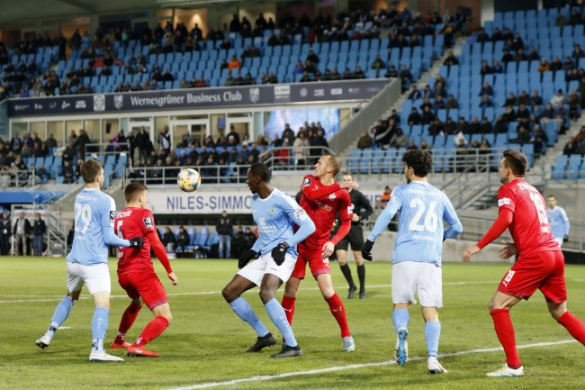 Für CFC und FSV geht es wieder um Punkte in der 3. Liga. Hier ein Bild vom Derby aus der Hinrunde.