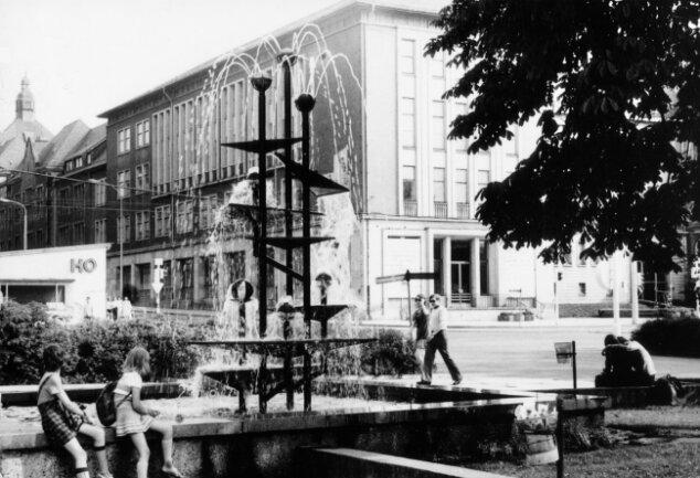Der Klapperbrunnen auf einer Aufnahme aus dem Jahr 1982.