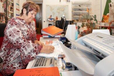 Margrid Starke ist Inhaberin des gleichnamigen Reisebüros in Annaberg-Buchholz. Obwohl Reisen wieder stattfinden können, ist an Normalität noch immer nicht zu denken.