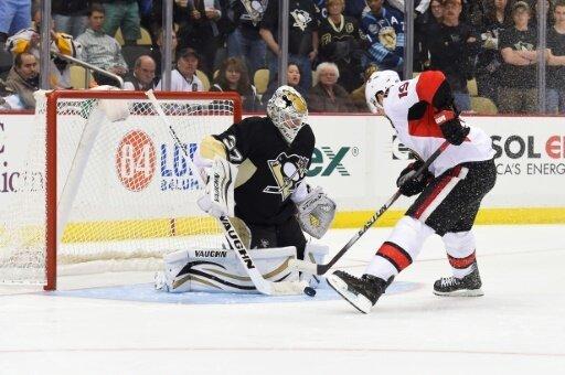 Zatkoff (l.) hütete das Tor der Pittsburgh Penguins