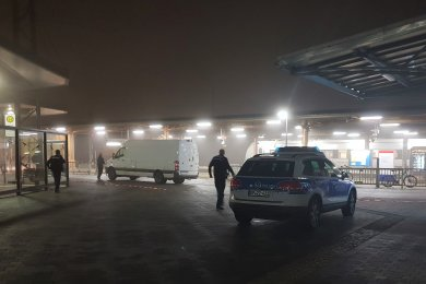 Der Bahnhof in Mittweida ist komplett gesperrt.
