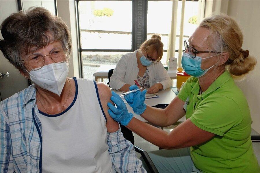 Bereits im September wurde im Reichenbacher Rathaus geimpft. Dies findet jetzt jede Woche statt.