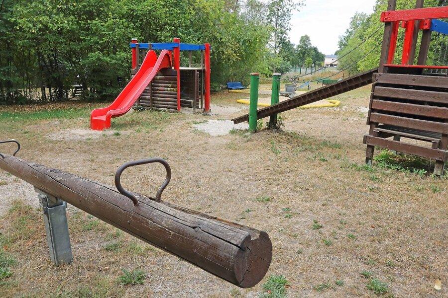 Der Spielplatz in Blankenhain ist seit Mittwoch gesperrt.