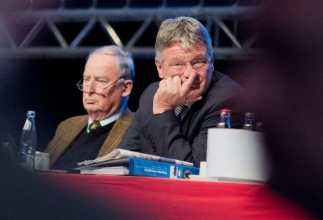 Parteichef gesucht, mit Verspätung gefunden: Alexander Gauland (links) hat sich in Hannover in letzter Minute entschieden, gemeinsam mit Jörg Meuthen die Führung der AfD zu übernehmen.