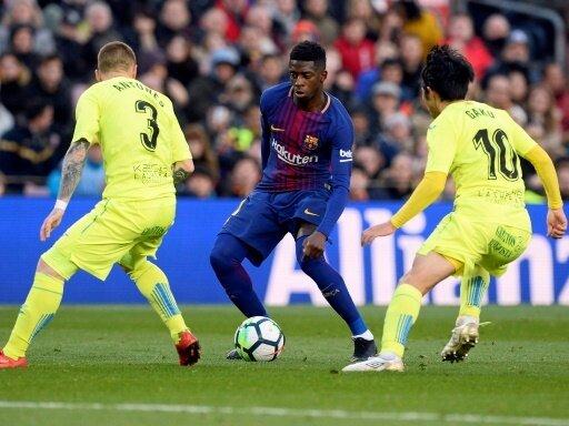 Ousmane Dembele gab bei Barcelona sein Comeback