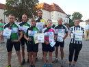 Die Sieger beim diesjährigen Fahrrad-Zickzack (v.l.): Team Windschattenfreunde, Fred Zimmermann, Helen Scholz, Torsten Axt und Stefanie Oertel.