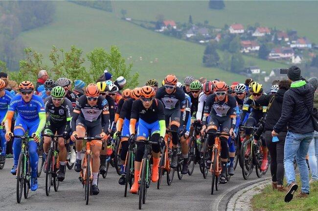 Die traditionelle Erzgebirgsrundfahrt mit Start und Ziel in Chemnitz-Einsiedel erlebte 2019 ihre 40. Auflage.