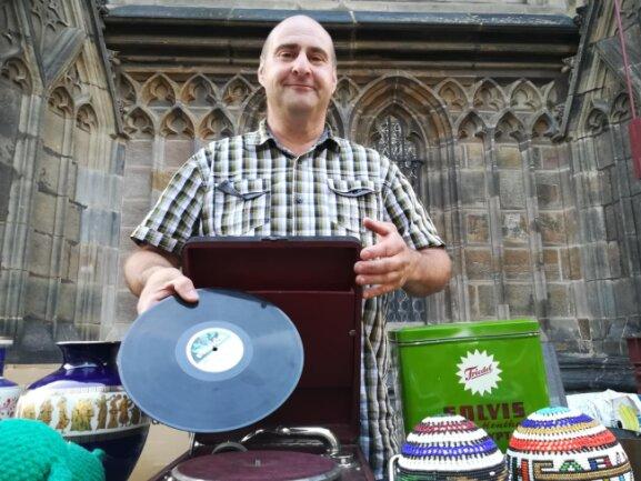 Verkauft seine Waren zum ersten Mal auf dem Zwickauer Stadtfest: Kai-Uwe Walther.