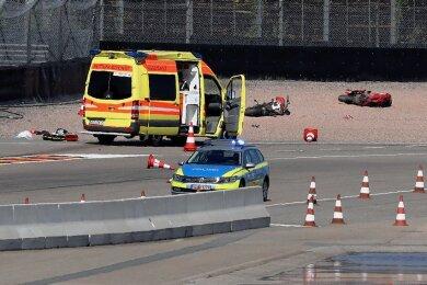 Am 30. Juli war auf dem Sachsenring in Hohenstein-Ernstthal bei einem Rennstreckentraining ein schwerer Unfall passiert.Foto:Andreas Kretschel