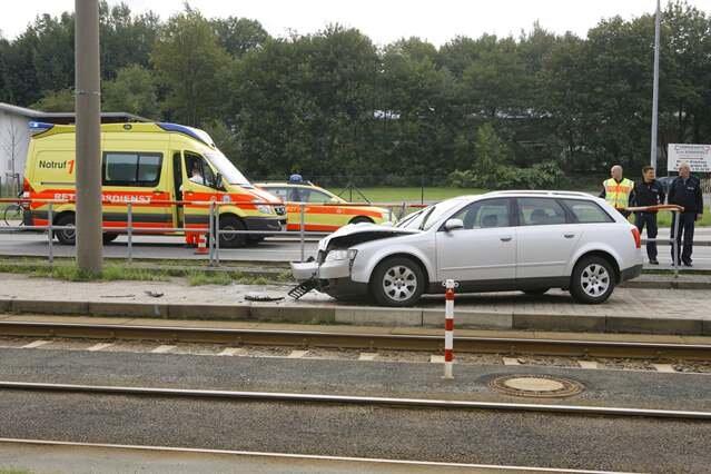 In Chemnitz starb am Freitagvormittag eine Fußgängerin.