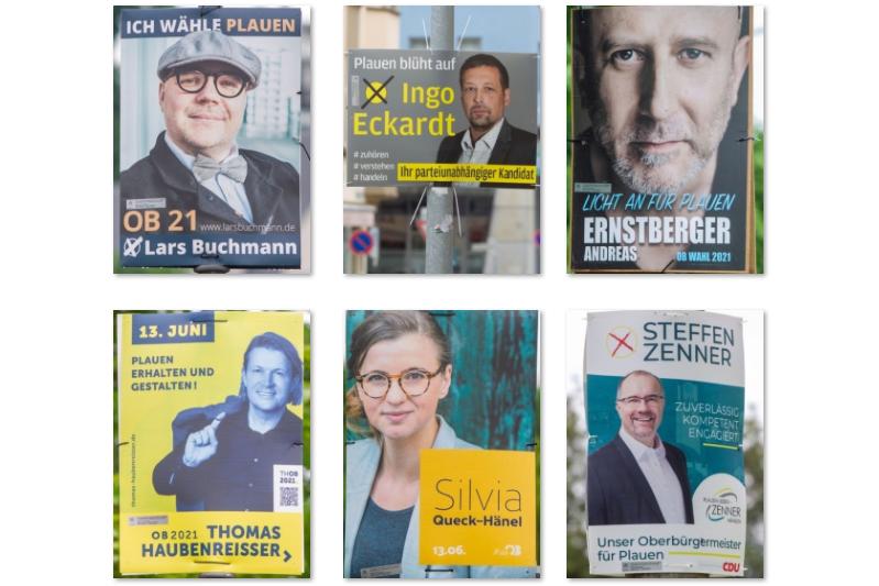Werbefachmann über OB-Wahlplakate in Plauen: Von cool bis zu dick aufgetragen